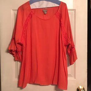 Chico's Tops - Women's Chico's Coral Colored Tunic. Size 3